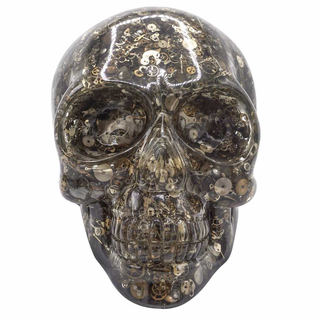 CLEAR RESIN SKULL - WATCH PARTS