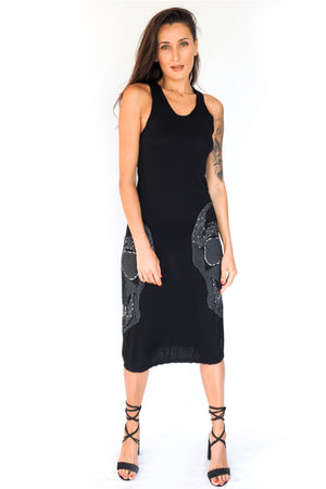 'LUX' TANK TOP DRESS - BLACK