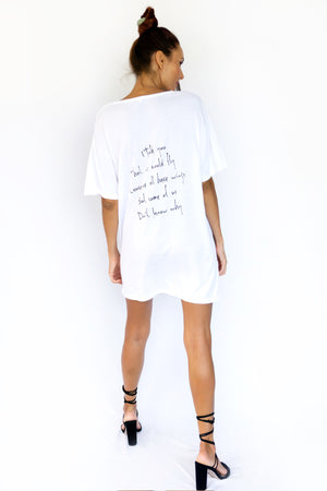 PRE-ORDER - 'HUTCH' MINI DRESS - WHITE - SAVE 15% TODAY ENTER CODE: 'HUTCH15' AT THE CHECKOUT