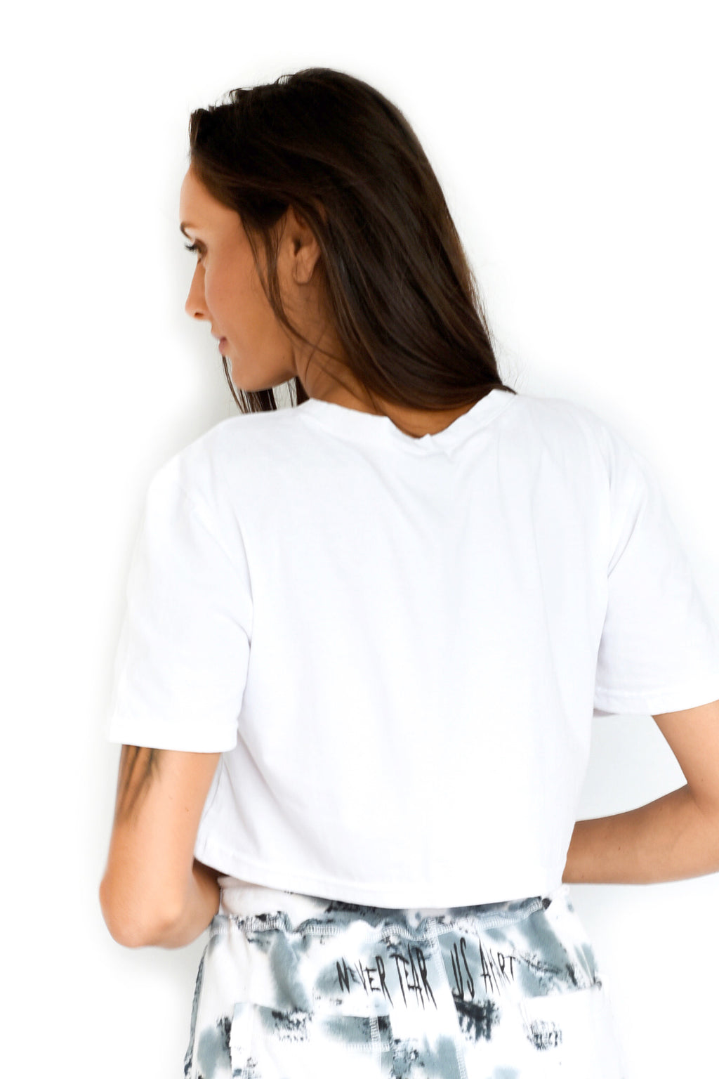 'DON'T ASK' CROP TOP - WHITE