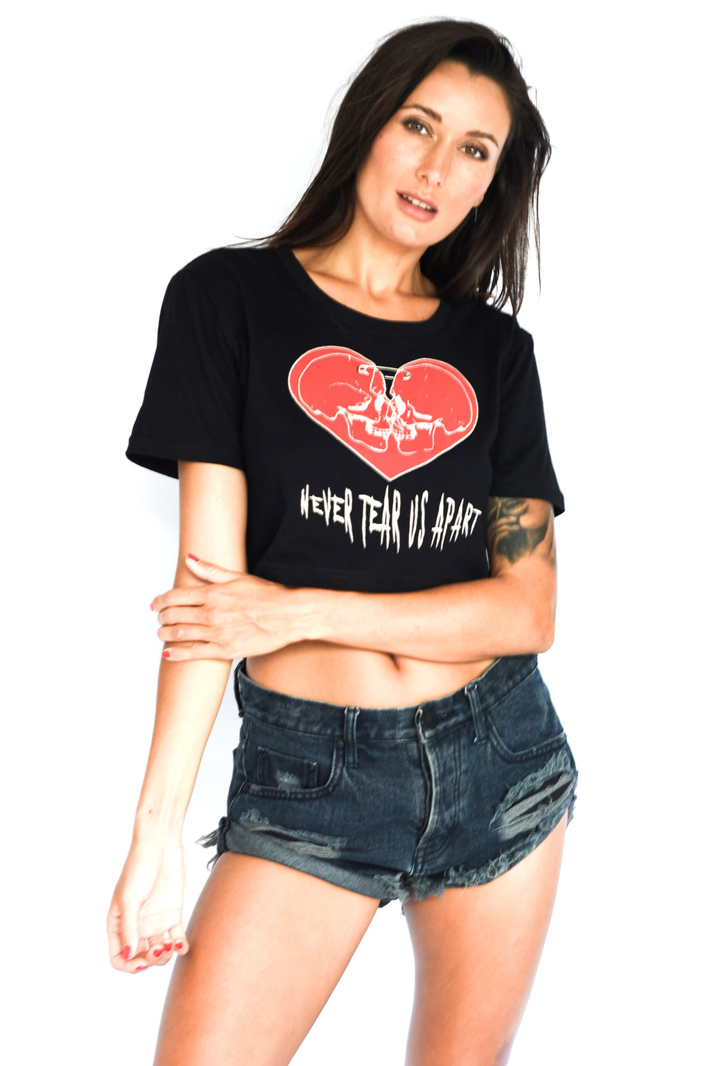 'DON'T ASK' CROP TOP - BLACK
