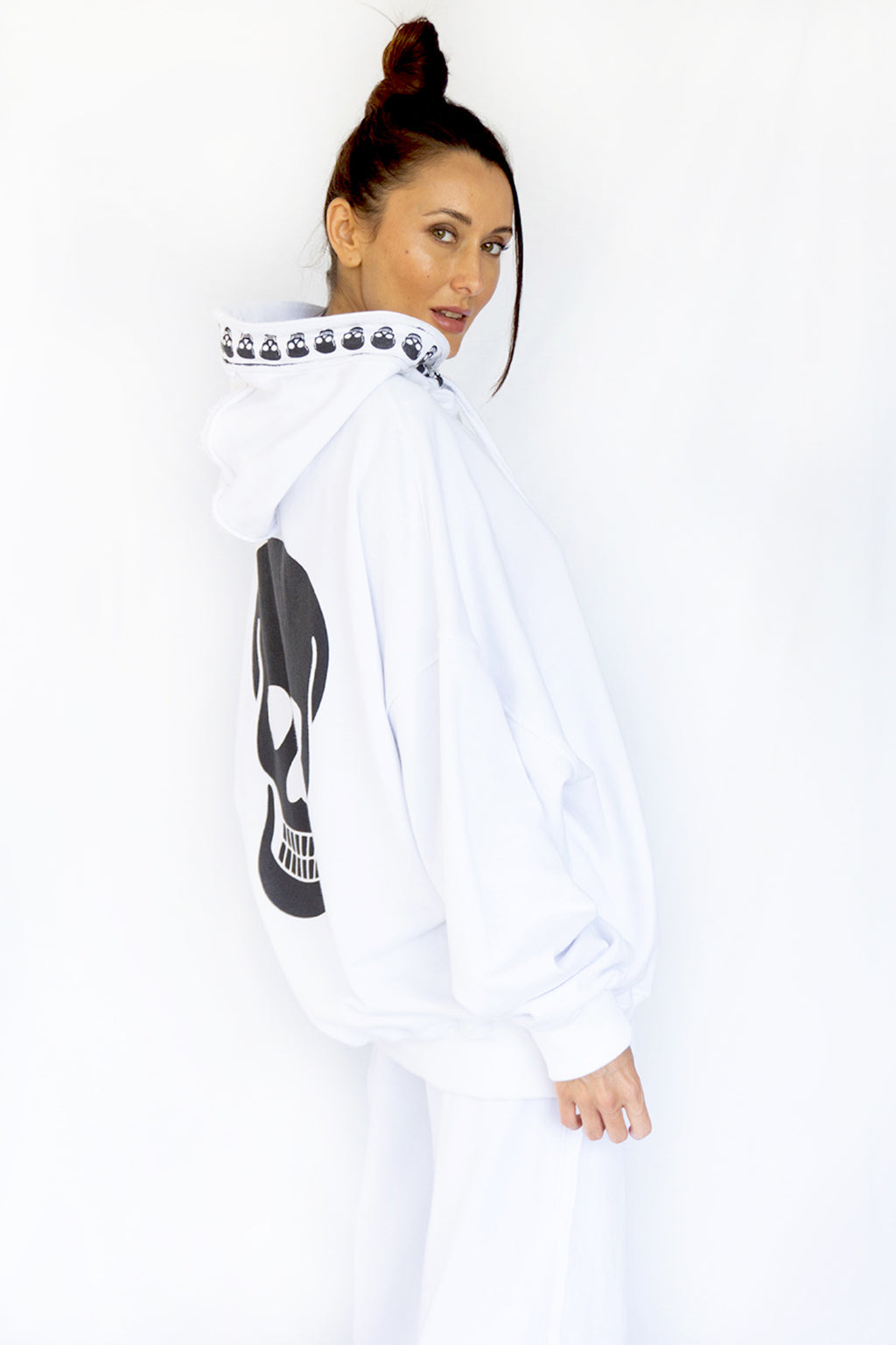 PRE-ORDER - 'BY MY SIDE' OVERSIZED HOODIE - WHITE