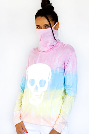 PRE-ORDER - 'SELF LOVE' LOOP LONG SLEEVES TEE - PASTEL TIE-DYE