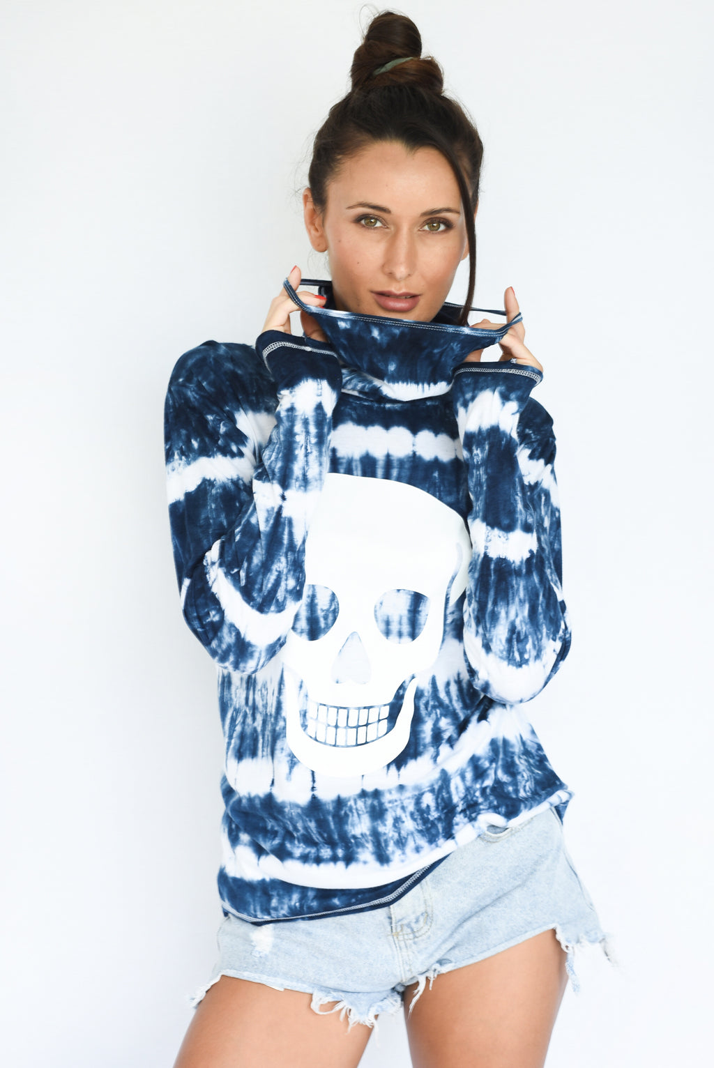 PRE-ORDER - 'SELF LOVE' LOOP LONG SLEEVES TEE - SHIBORI TIE-DYE