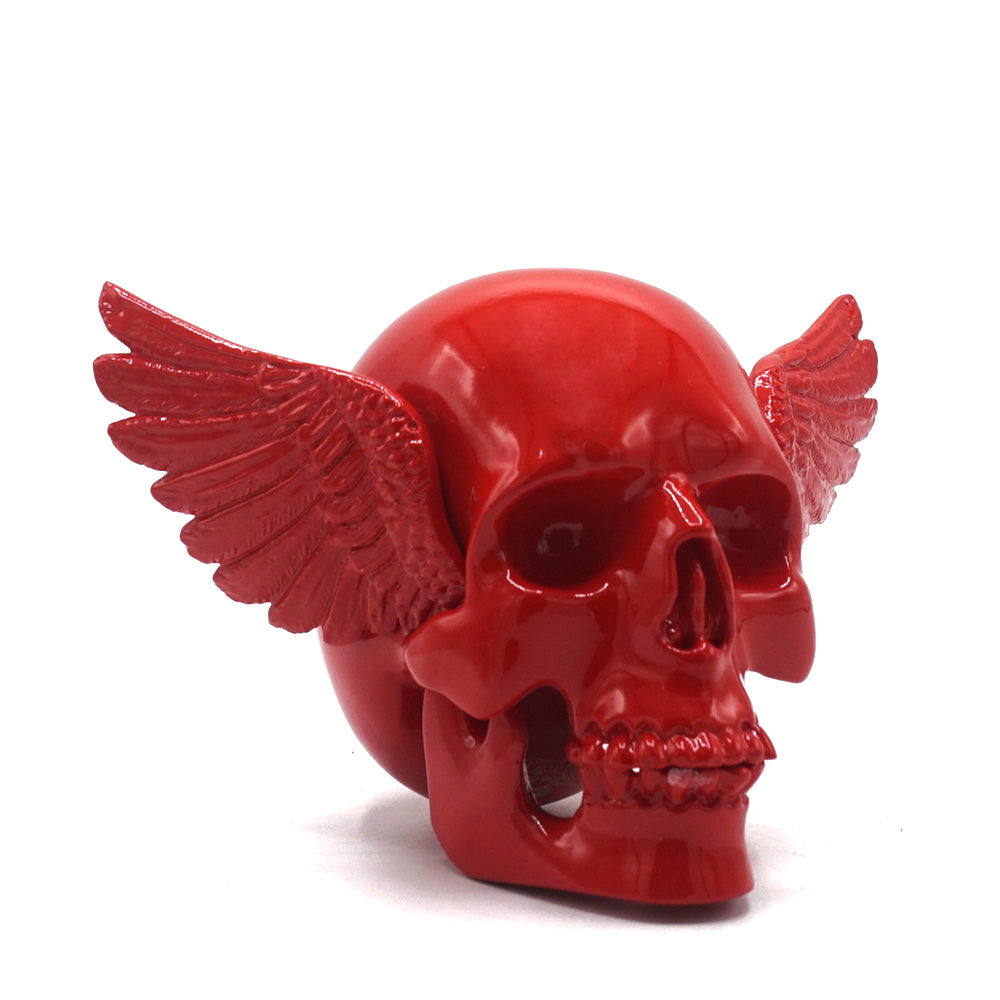 WINGED SKULL - RED