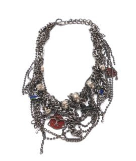NECKLACE - COSTUME JEWELLERY - SILVER