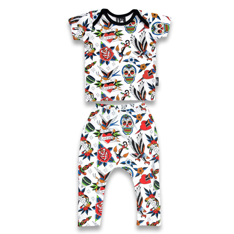 'TATTOO SHOPPE' LONG PANTS PYJAMA SET