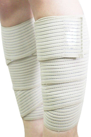 Beige Compression Calf Strap Support