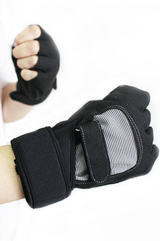 Black Non-slip Breathable Half Finger Cycling Gloves