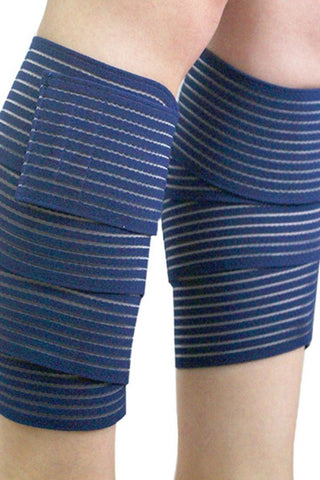 Blue Compression Calf Strap Support