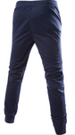 Dark-blue Stripe Side Drawstring Waist Sports Sweat Pants
