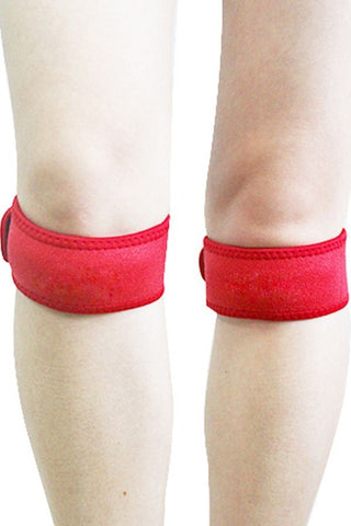 Red Adjustable Patella Knee Strap
