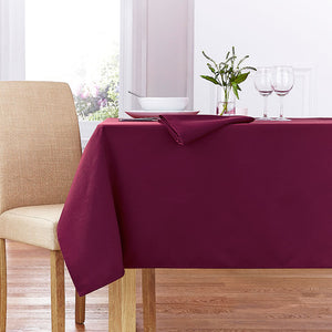 Forta 100% Polyester Plain Table Cloth - Burgundy