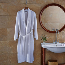 Load image into Gallery viewer, Luxury Spa White Waffle Bath Robe