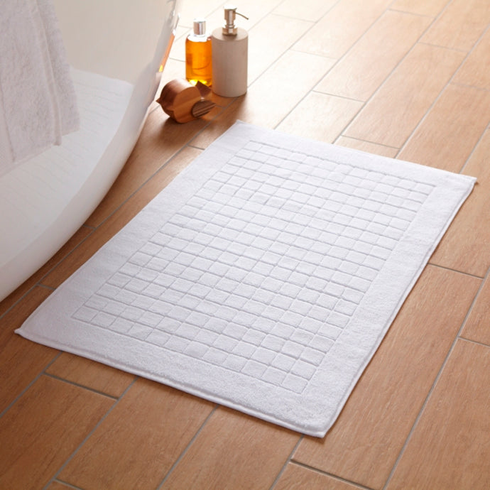 Chequerboard 100% Luxury Cotton Bath Mat