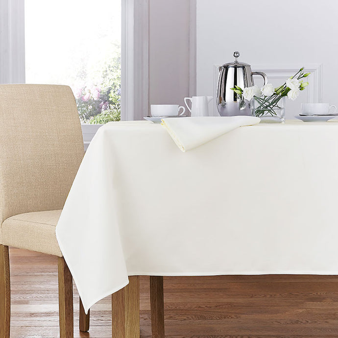 Forta 100% Polyester Plain Table Cloth - Ivory