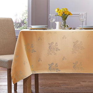 Cezanne Gold Damask Rose Table Cloth