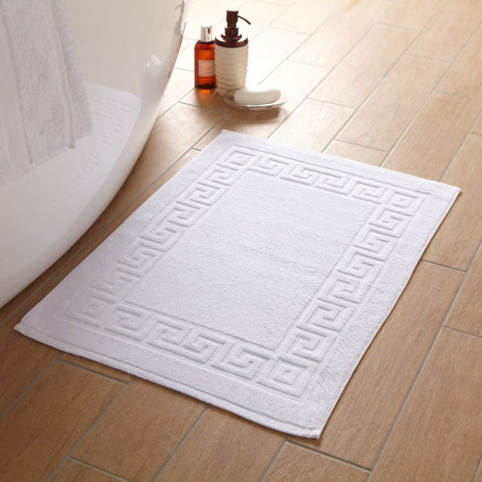 Greek Key 100% Cotton Bath Mat