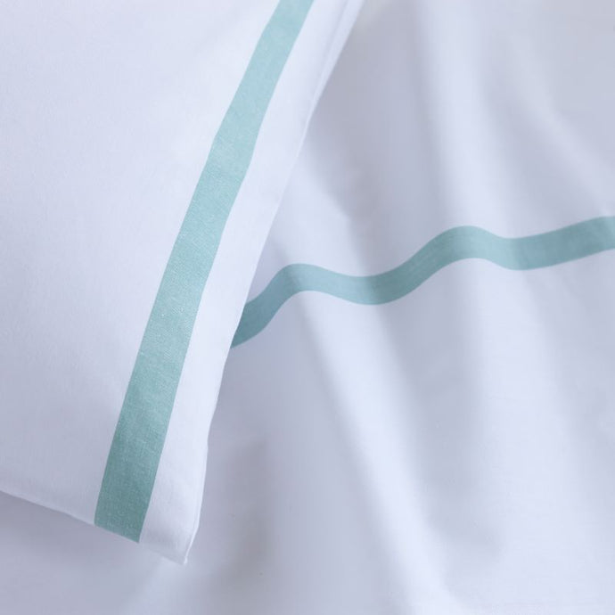 Healthcare Green Stripe Bed Sheet