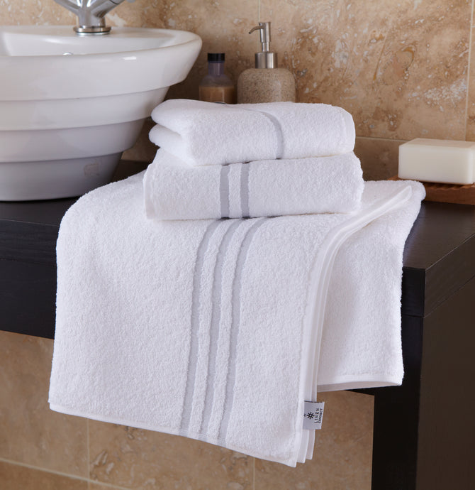 Orion 100% Cotton White Leisure Towels