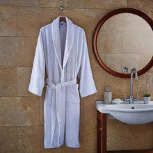 Load image into Gallery viewer, Luxury Spa White Terry Bath Robe