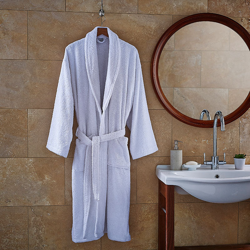 Luxury Spa White Terry Bath Robe