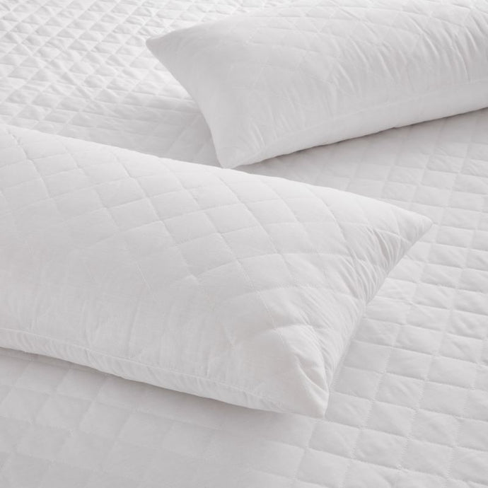 Quilted Polycotton Pillow Protectors (Pair)