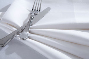 Rafael White 100% Cotton Satin Band Table Cloth
