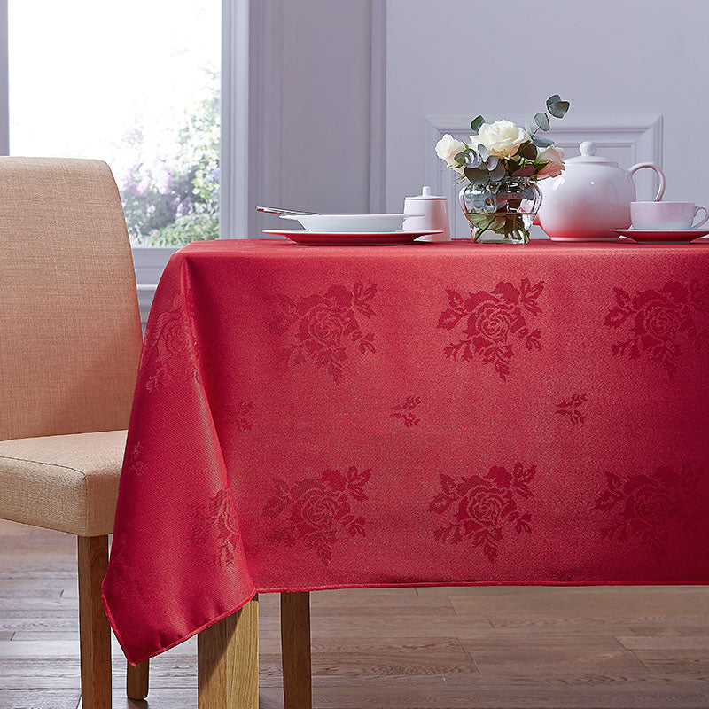 Cezanne Red Damask Rose Table Cloth