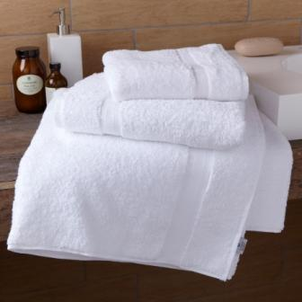 Tuscany Luxury White 100% Cotton Towels - Basket Weave Header