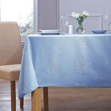 Load image into Gallery viewer, Cezanne Wedgewood Blue Damask Rose Table Cloth