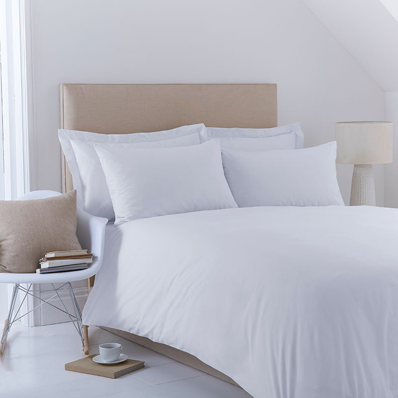 Pescara Plain White 50/50 Polycotton Duvet Cover