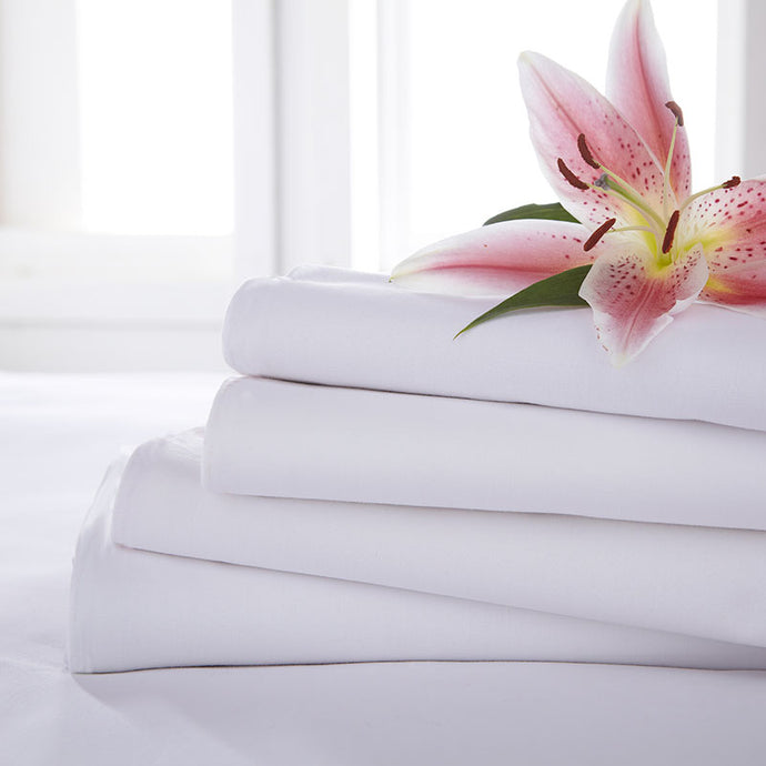 Pescara White 50/50 Polycotton Long Length Flat Sheet