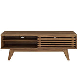 Modway Render Mid-Century Modern Low Profile 48 Inch TV Stand in Walnut - Noizylady