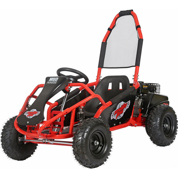 MotoTec Mud Monster Kids Gas Powered 98cc Go Kart Full Suspension