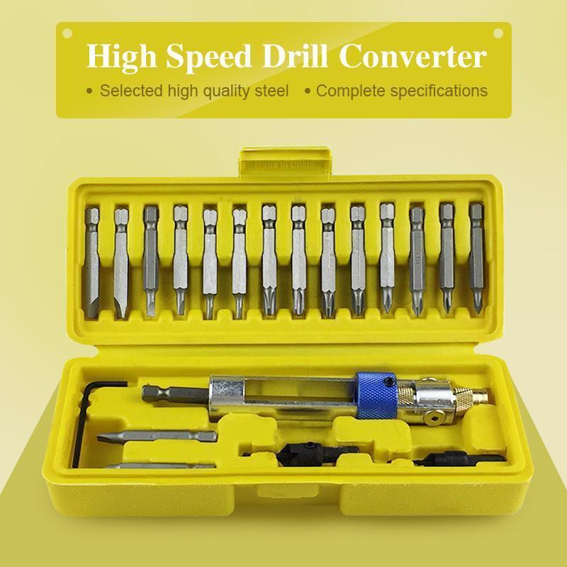 High-Speed Steel Drill Bit Head Converter (1 Set)