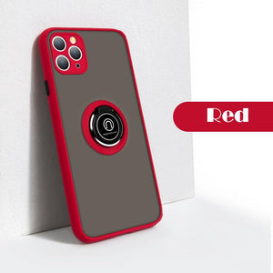 Matte Silicone Phone Case with Holder