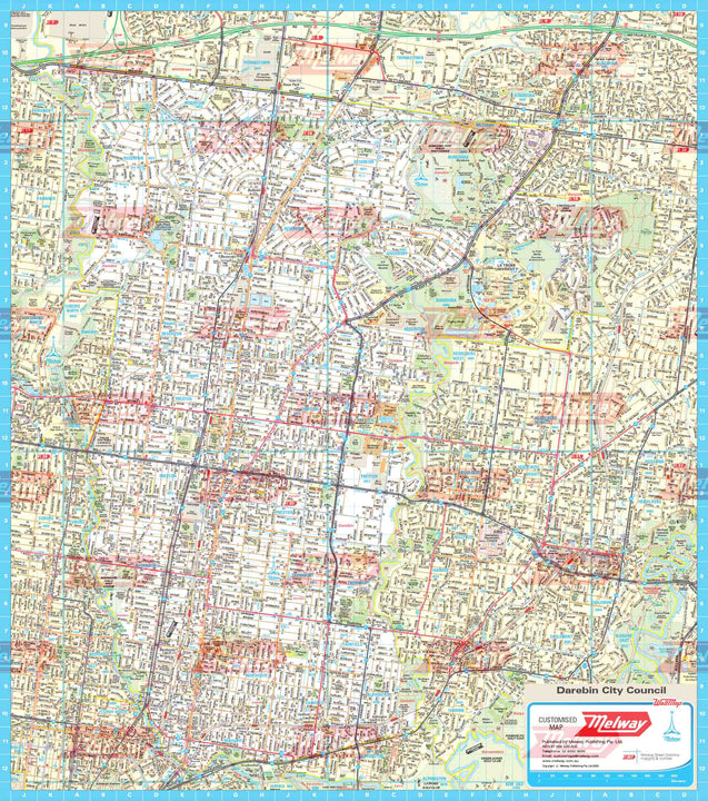Melway Darebin Council WallMap