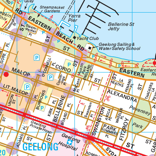 Melway Greater Geelong Council WallMap