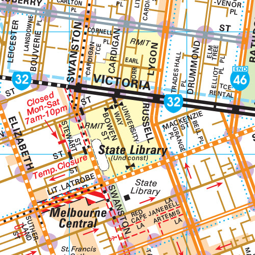 Melway Melbourne City Council WallMap