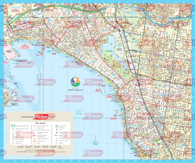 Melway Port Phillip Council WallMap