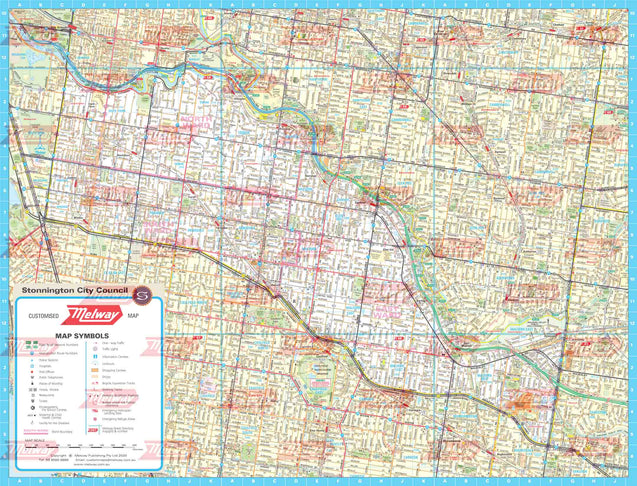 Melway Stonnington Council WallMap