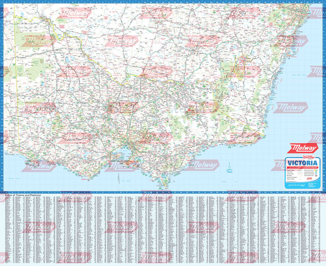 Melway Victoria WallMap - Rolled & Laminated