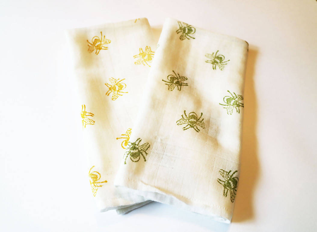 Yellow Bee Muslin