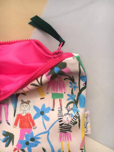 Faux Leather Bikini Bag