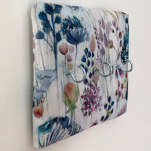 Load image into Gallery viewer, 3-hook key hanger in Voyage Maison meadow fabric