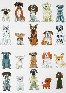Cartoon Dog Print