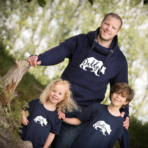 Daddy Bear Hoodie with Brother and Sister T-shirts