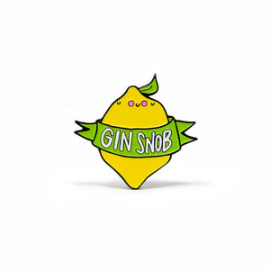 Gin Snob Pin Badge