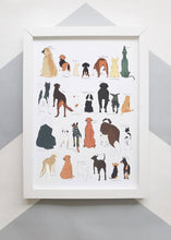 Load image into Gallery viewer, A to Z Dogs Print
